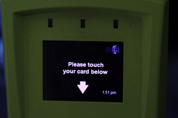 Myki FPD with the display in 'night mode'