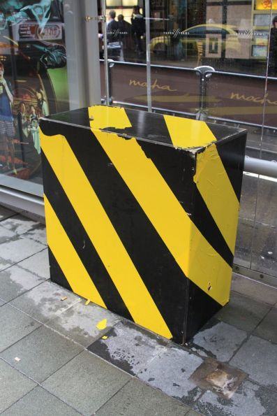'Bumblebee box' at the Town Hall tram stop at Collins and Swanston Street