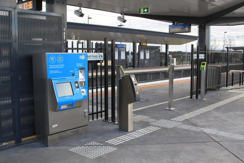 Myki outnumbers Metcard at the down platform at Cardinia Road station