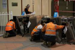 Removing the Metcard barriers at Flagstaff station