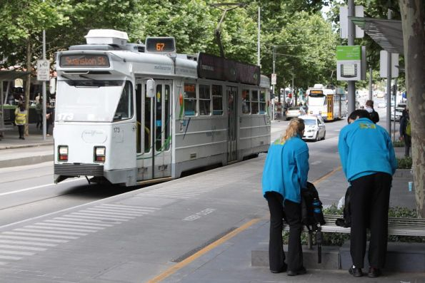 Myki Mates at the Swanston and Collins Street tram stop