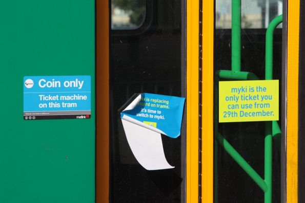 With the 2nd phase of the Myki tram stickers underway - a mishmash of Metcard and Myki messages