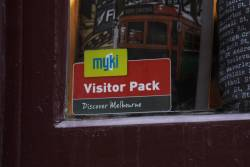 Spotted - a store that sells the $14 'Myki Visitors Pack'