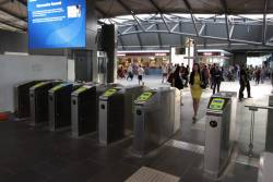 Myki gates locked open at Southern Cross