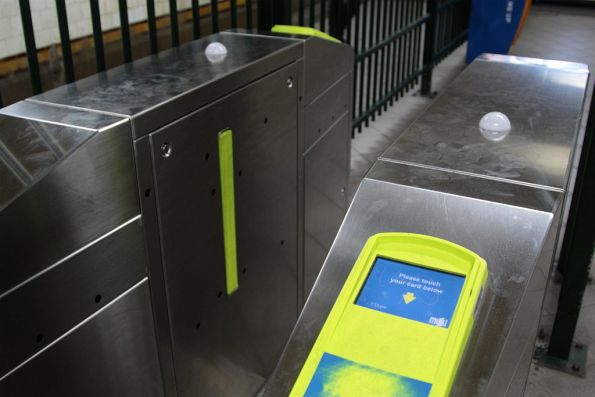 Myki gates left in the 'active' state in the Flinders Street Station subway, despite leading nowhere