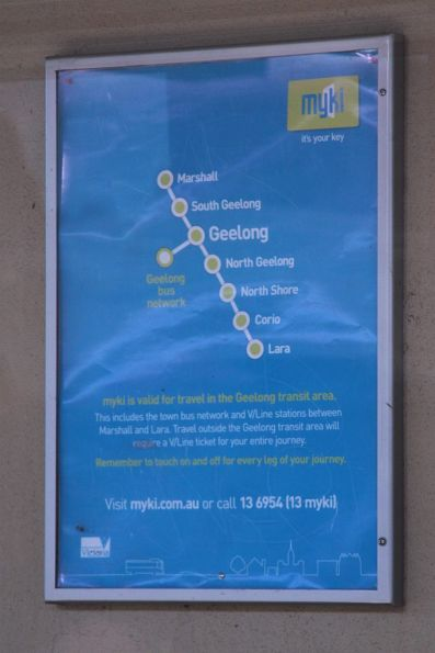 Myki poster at Geelong line stations