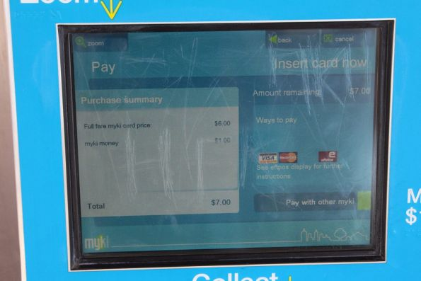 New feature on Myki machines - buying a new Myki with the credit on a second Myki
