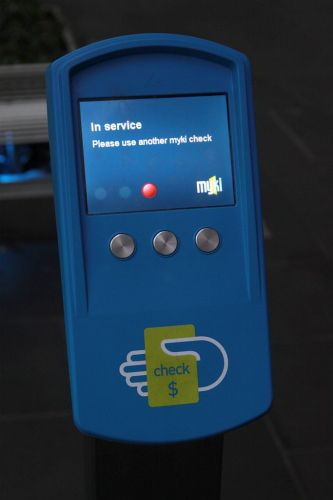 A completely nonsensical message - 'In service / Please use another myki check'