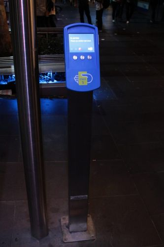 Broken for four weeks now: Myki check reader at Melbourne Central still stuck 'In service'