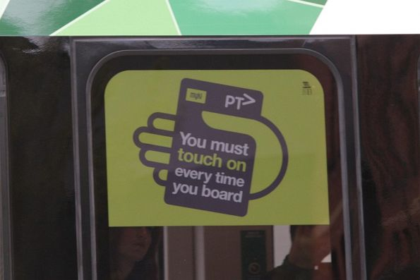 Myki stickers on the brand new E class trams