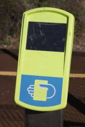 A clean looking Myki reader at Corio station