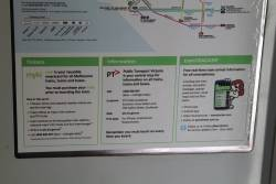 New myki branding featuring on the January 2014 version of the tram network map