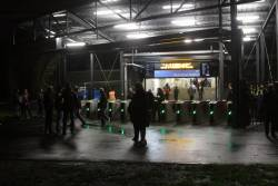 New myki gates in use at the south-western entrance to Richmond station