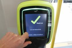 New Vix myki readers installed onboard tram E.6008