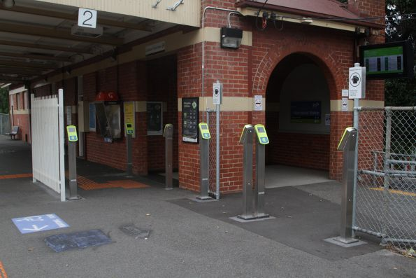 Myki readers doubled from 4 to 8 at Newmarket platform 2