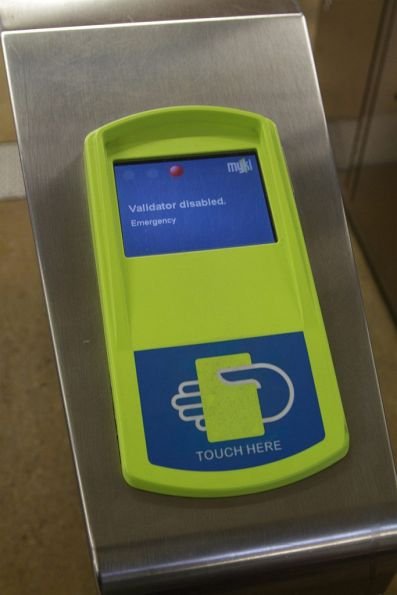 'Validator disabled - Emergency' message on a myki reader