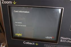 'Card rejected - your card has expired' message on a myki machine