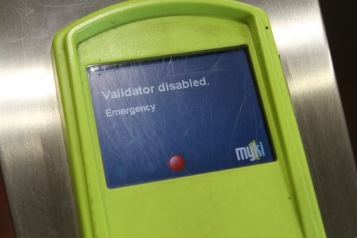 'Validation disabled - Emergency' message on a myki reader
