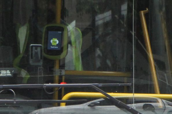 New Vix myki reader onboard CDC Melbourne bus #115 5892AO