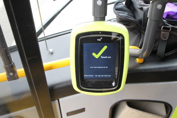 New Vix myki readers onboard a CDC Melbourne bus