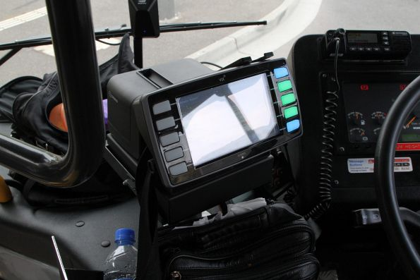 New Vix myki bus driver console onboard a CDC Melbourne bus