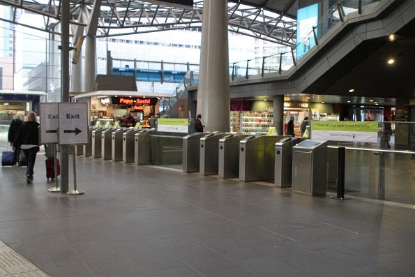 Ad-hoc 'Exit' signage at Southern Cross Station