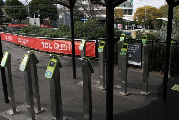 Myki readers at Flemington Racecourse platform 2