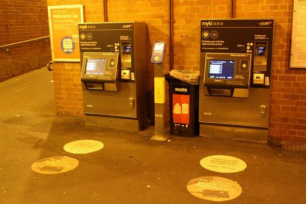 Myki machines at Auburn station