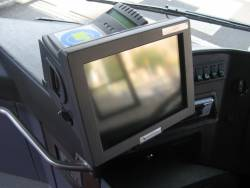 Front view of a Myki Bus Driver Console