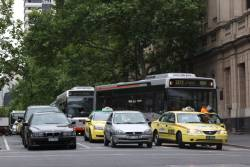 So-called 'Smartbuses' stuck in traffic at Lonsdale and William Street