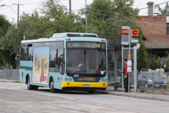 National Bus #529 5825AO with a route 246 service at the Clifton Hill interchange