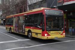 National Bus #749 1749AO not in service, westbound at Lonsdale and Swanston Streets