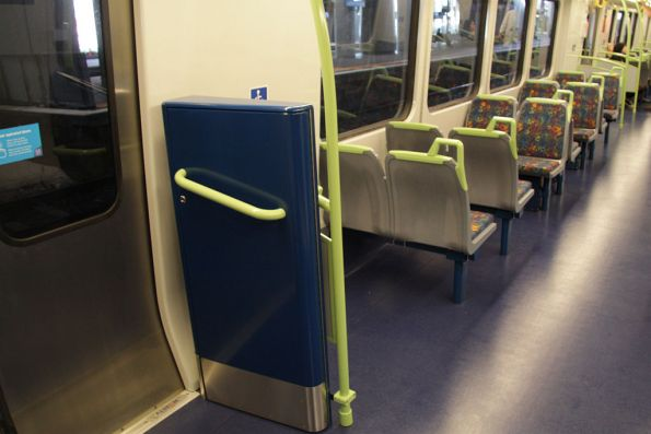 Wheelchair ramps now inside the X'Trapolis carriage, one each side at the cab end of each M car
