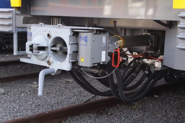 Nice and shiny scharfenberg couplers on an X'Trapolis train yet to enter service