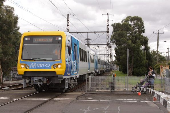X'Trapolis 134M leads the set on test at Croxton station