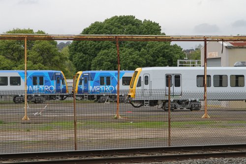X'Trapolis carriage XT2016 MC2/025 beside completed carriages 245M and 248M