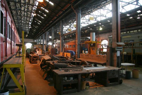 Inside the Steamrail carriage shop