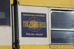 Australian National 'The Explorer' logo on an ex-SAR carriage