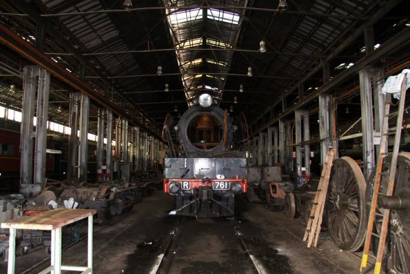 R761 getting worked on inside West Block