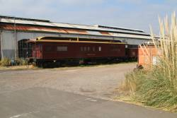 Power car 'Melville' stored outside the sheds at West Block
