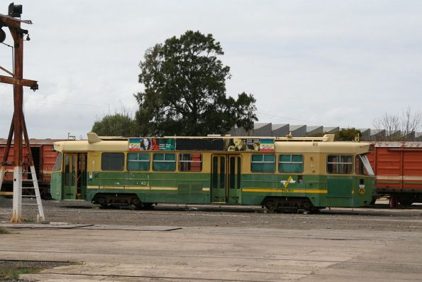Z1.43 stored in 'The Met' livery outside East Block at Newport