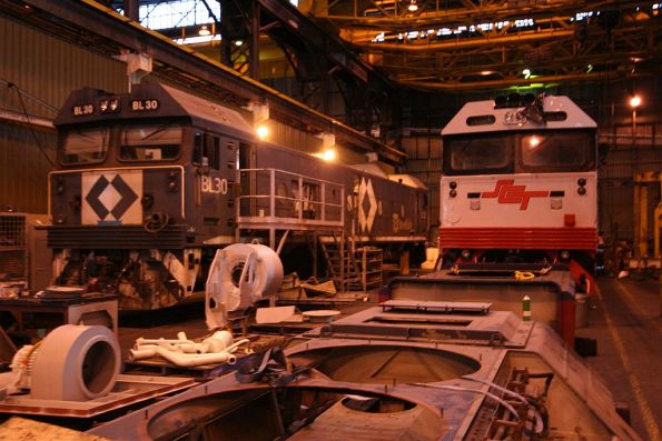 BL30 under overhaul beside an unidentified G class for SCT
