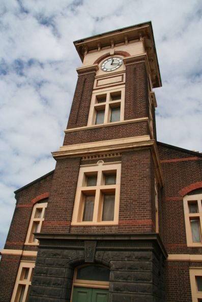 Clocktower above the main office block