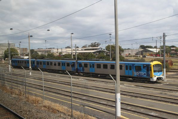 3-car Siemens 795M stabled at Newport Workshops