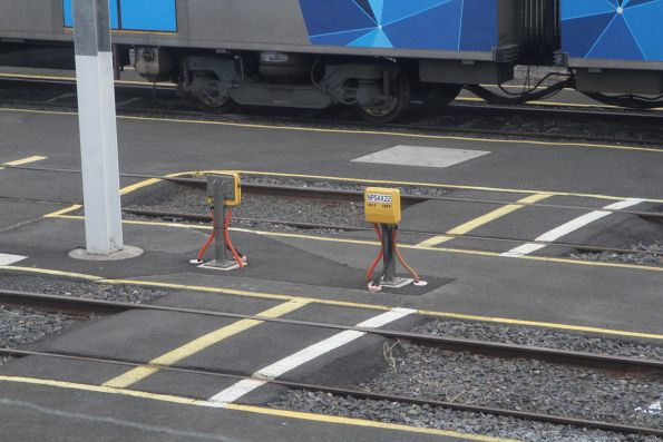 Axle counters in the suburban train stabling yard