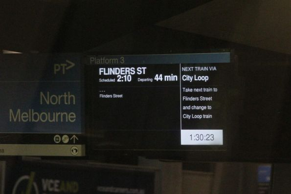 Citybound service at North Melbourne, skipping Southern Cross Station