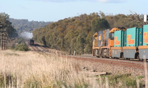 The freight continues the chase