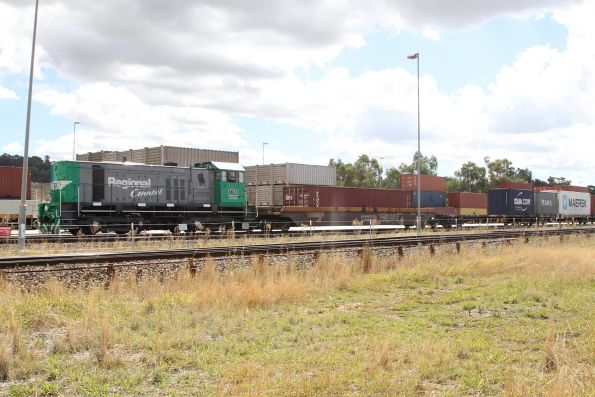 Y151 shunting Pacific National container wagons at the Ettamogah Rail Hub