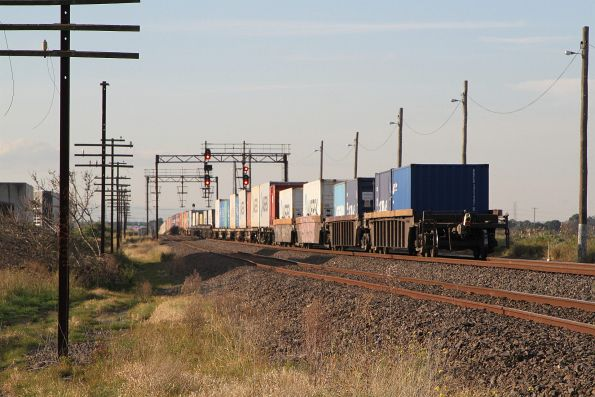 Tail end of MC2 freight northbound at McIntyre Loop