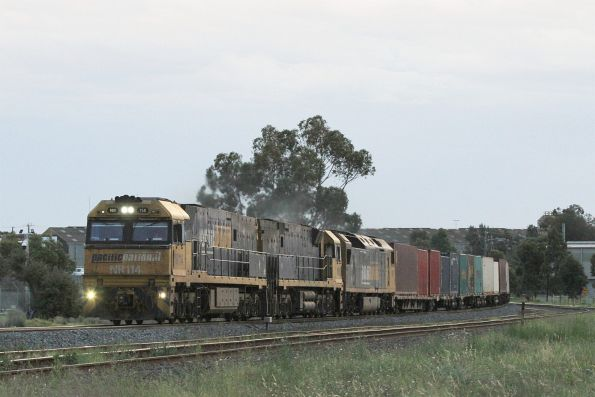 NR114 leads NR81 and AN3 on the down at Albion